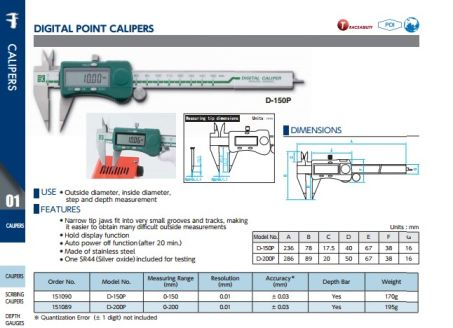 Digital Point Calipers (D-P Series) 2